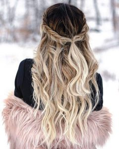 long hair in winter